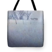 Elk On The Hill Tote Bag