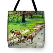 Elks Crossing Tote Bag