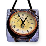 Ellicott City Clock Tote Bag by Stephen Younts