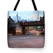 Ellicott City Nights - Entrance To Main Street Tote Bag