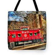 Ellicott City Train And Factory Tote Bag