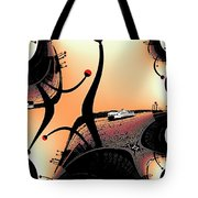 Elliott Bay Ferry Fractal Tote Bag