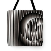 Ellipse On Grid Tote Bag