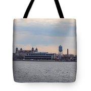 Ellis Island Panorama Tote Bag