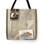 Ellis Island Vintage Map Child Immigrants Tote Bag