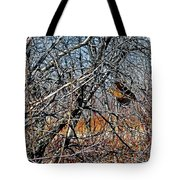 Elusive Woodcock's Woody Environment Tote Bag