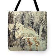 Elves In A Wood Tote Bag by Arthur Rackham