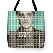 Elvis Army Mug Shot - Blue Tote Bag