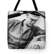 Elvis And His Bike Bw Tote Bag