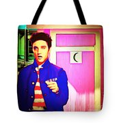Elvis Has Left The House 20151225 Square Tote Bag