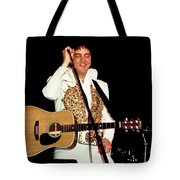 Elvis In Concert Tote Bag
