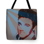 Elvis Pop Art Poster Tote Bag