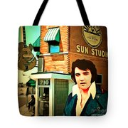 Elvis Presley The King At Sun Studio Memphis Tennessee 20160216 Square Tote Bag