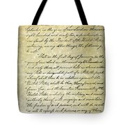 Emancipation Proc., P. 1 Tote Bag by Granger