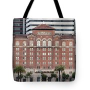 Embarcadero Ymca Building In San Francisco, California Tote Bag