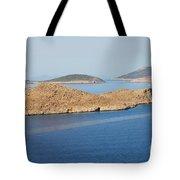 Emborio Harbour On Halki Island Tote Bag