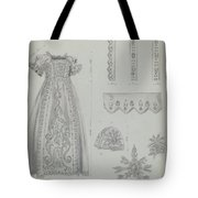 Embroidered Christening Robe & Mull Cap Tote Bag