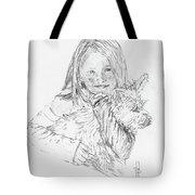 Emelyne With Er Dog Tote Bag