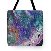 Emerald And Amethyst. Abstract Fluid Acrylic Painting Tote Bag