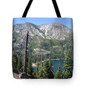Emerald Bay With Mountain Tote Bag