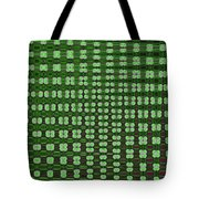 Emerald Green And Oak Stump Abstract Tote Bag