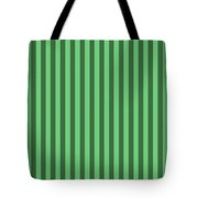 Emerald Green Striped Pattern Design Tote Bag