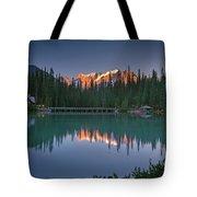 Emerald Lake At Sunrise Hour Tote Bag