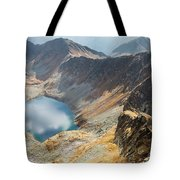 Emerald Lake Surrounded By Tatra Mountains, Poland Tote Bag