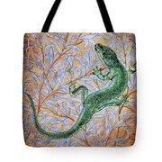 Emerald Lizard Tote Bag
