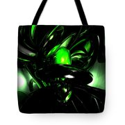 Emerald Nigthmares Abstract Tote Bag