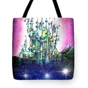 Emerald Palace Of Ancient Queen Of Space Aliens Tote Bag
