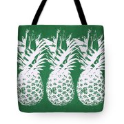 Emerald Pineapples- Art By Linda Woods Tote Bag