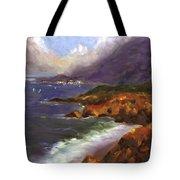 Emerald Surf Tote Bag