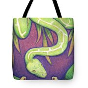 Emerald Tree Boa Tote Bag