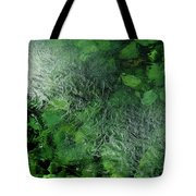Emeralds Under Ice Tote Bag