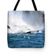 Emerging  From The Spray Tote Bag