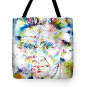 Emil Cioran - Watercolor Portrait Tote Bag