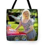 Emily #3 Royal Holden Tote Bag