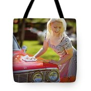 Emily #4 Royal Holden Tote Bag