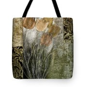 Emily Damask Tulips II Tote Bag