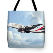 Emirates A380-800 A6-eer Tote Bag
