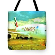 Emirates A380 Airbus Pop Art Tote Bag