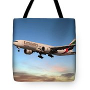 Emirates Boeing 777f A6-efm Tote Bag