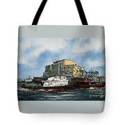 Emma Foss Barge Assist Tote Bag