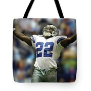 Emmitt Smith, Number 22, Running Back, Dallas Cowboys Tote Bag