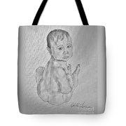 Emmy Blue Eyes Angel Tote Bag