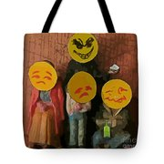 Emoji Family Victims Of Substance Abuse Tote Bag