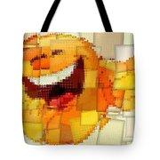 Emoticon Mosaic Cubism Tote Bag