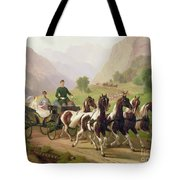 Emperor Franz Joseph I Of Austria Being Driven In His Carriage With His Wife Elizabeth Of Bavaria I Tote Bag