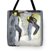 Emperors Of The Antarctic Tote Bag